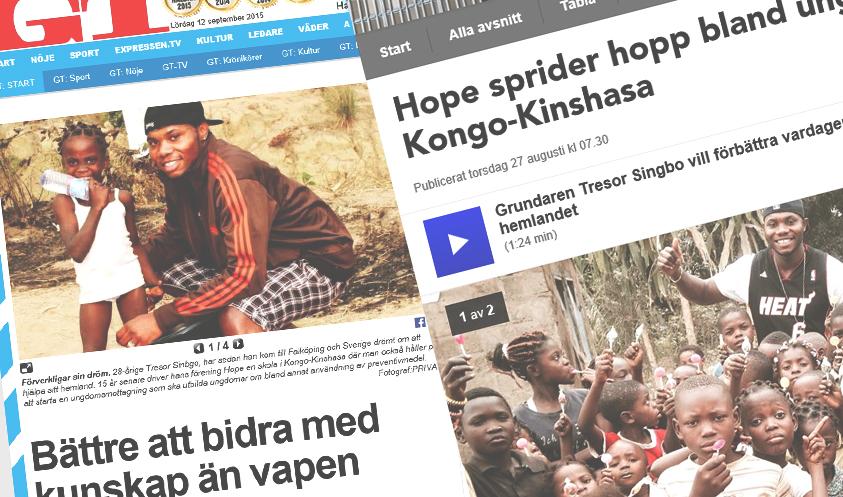 Hope for Kinshasa i media